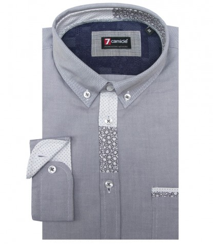 Chemises Leonardo Oxford Medium Grey