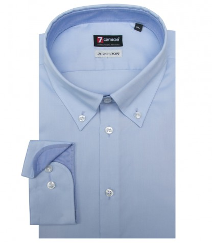 Chemises Leonardo super oxford Bleu clair