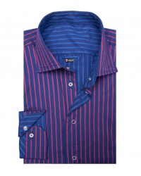 Double-faced shirt Firenze blue and light blue