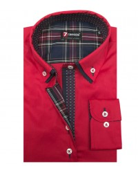 Shirt Linda stretch poplin Red