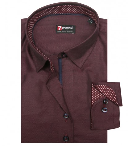 Camisas Linda Oxford Bordeaux
