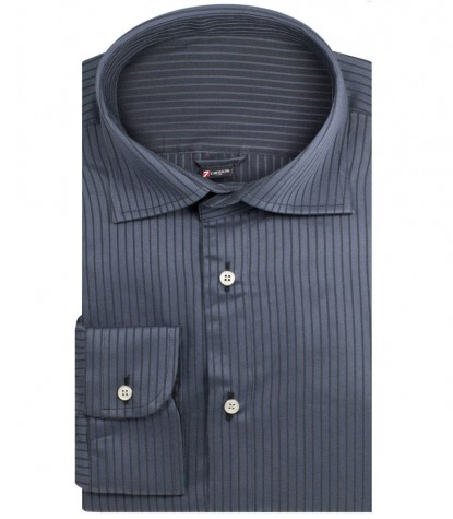 Double-faced shirt Firenze dark grey and black