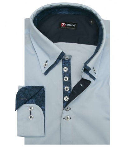 Camicia Donatello Popeline stretch Nero