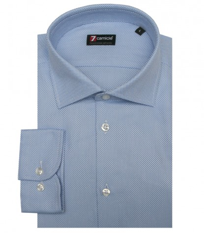 Shirt Firenze Weaved Light BlueWhite