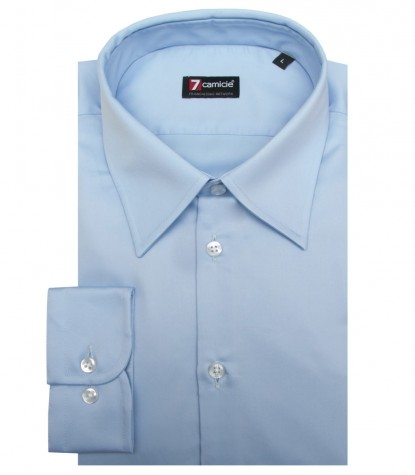 Shirt Romeo Satin Light Blue