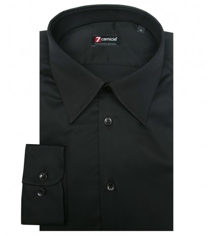 Shirt Romeo Satin Black