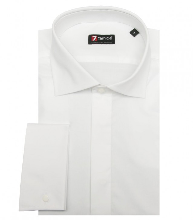 Shirt Firenze stretch poplin White