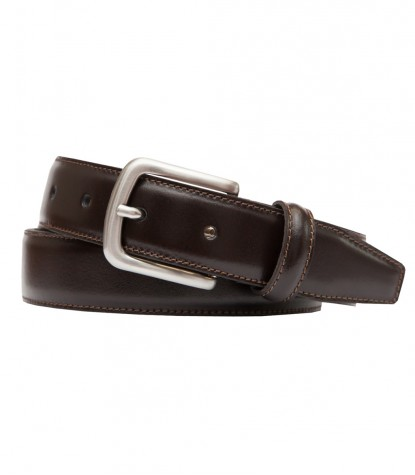Classic Brown Smooth Leather Man Belt