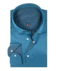 Double-faced shirt Firenze blue and black