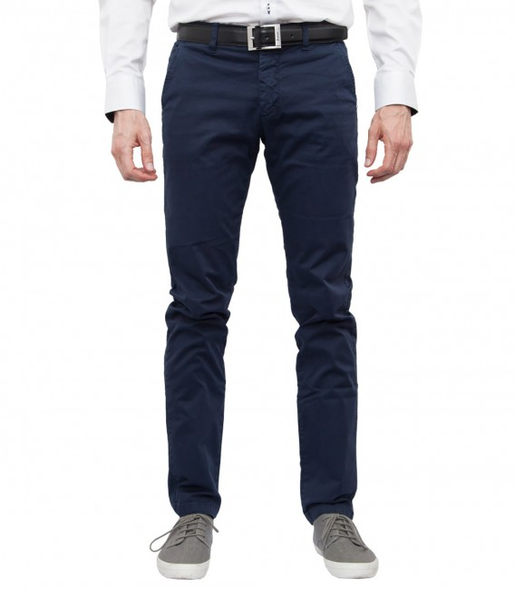 Men's Blue Twill Chinos Trousers