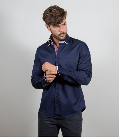 Shirt Colosseo Satin Blu