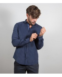 Shirt Men full color Blu