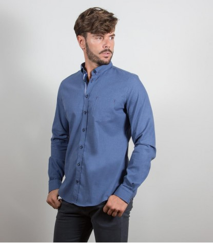 Chemises homme Plaine avion bleu