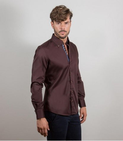 Chemises Roma Satin marron