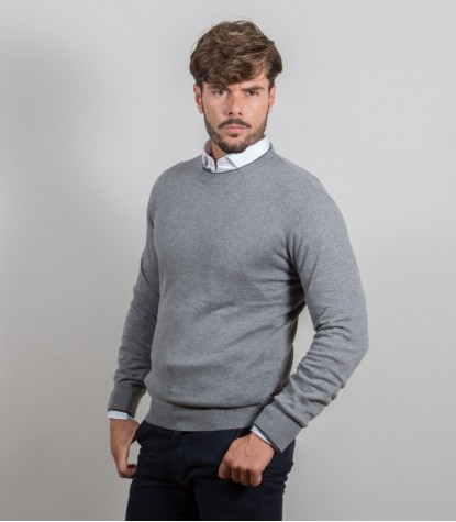Light gray crewneck sweater