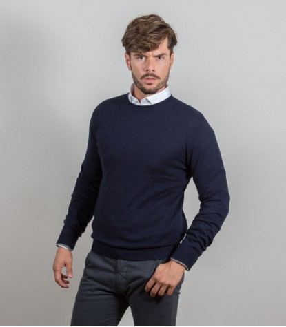 Blue crew neck sweater