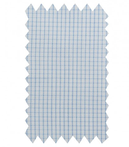 Shirt Donatello Poplin WhiteLite Blue