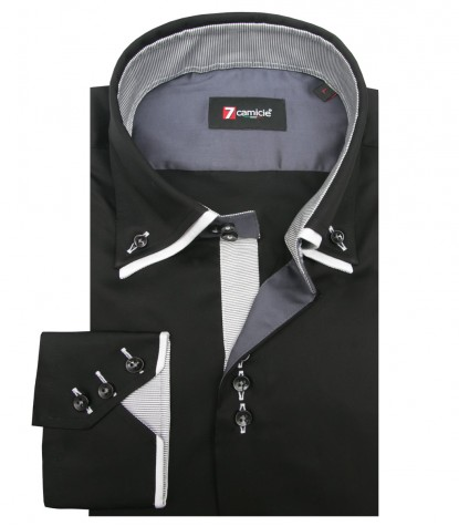 Camicia Colosseo Satin Nero