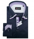 Chemises Vesuvio popeline extensible purple