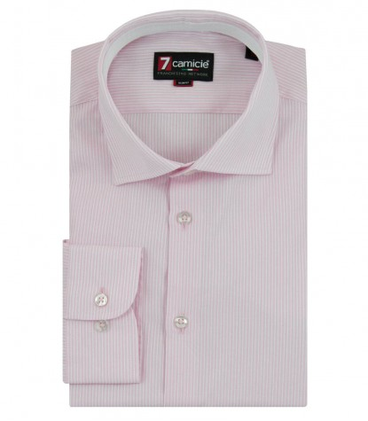 Shirt Firenze Weaved PinkWhite