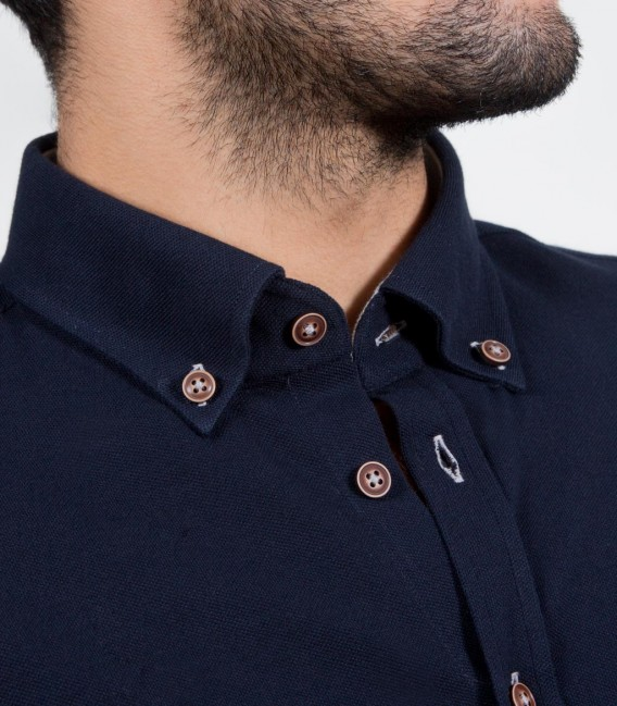 Shirt Leonardo Jersey cotton Blu