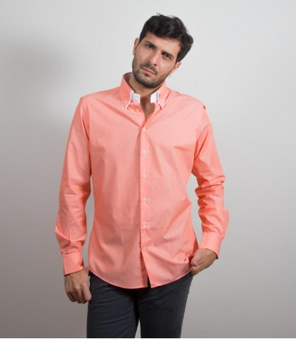 Chemises Marco Polo Coton Orange vif