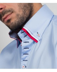 Shirt Vesuvio Satin Light Blue
