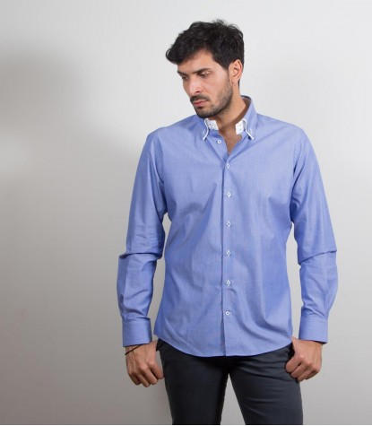 Shirt Marco Polo Cotton Ink Blue