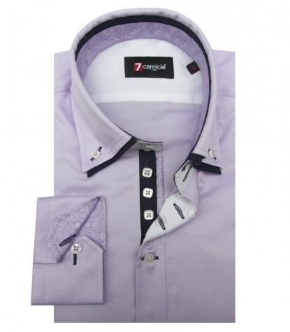 Shirt Marco Polo Satin Lilac