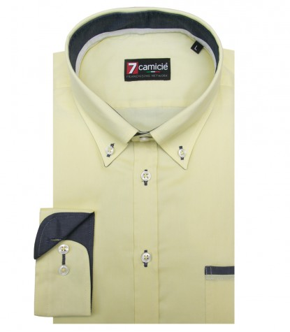 Shirt Leonardo Cotton Yellow