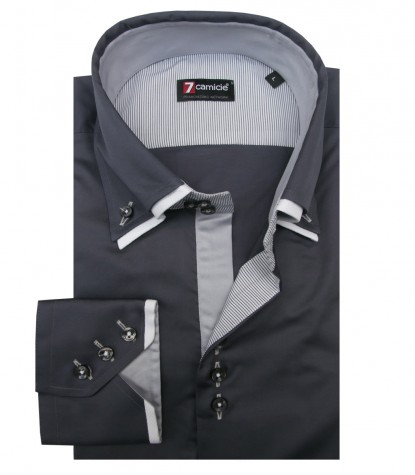 Shirt Colosseo Satin Dark Grey