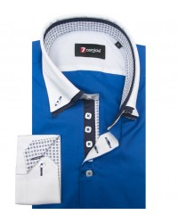 Shirt Marco Polo Satin Bluette