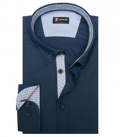 Shirt Leonardo jacquard Light Blue