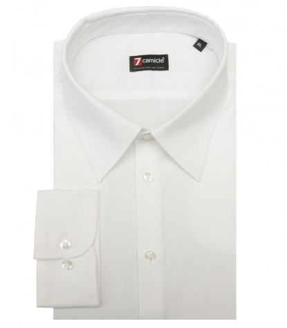 Shirt Romeo stretch poplin White