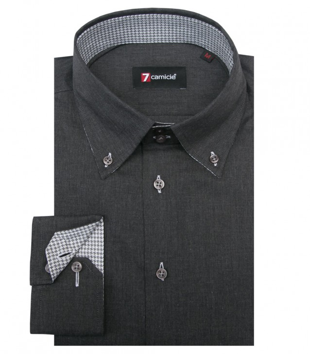 Shirt Roma Cotton Dark Grey