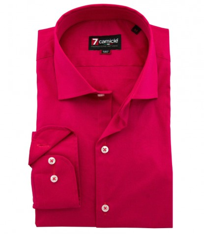 Shirt Firenze stretch poplin Fuchsia