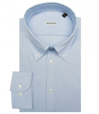 Shirt Bernini twill WhiteLite Blue