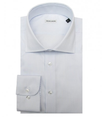 Shirt Firenze twill WhiteLite Blue