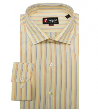 Shirt Firenze Cotton Yellow and Orange