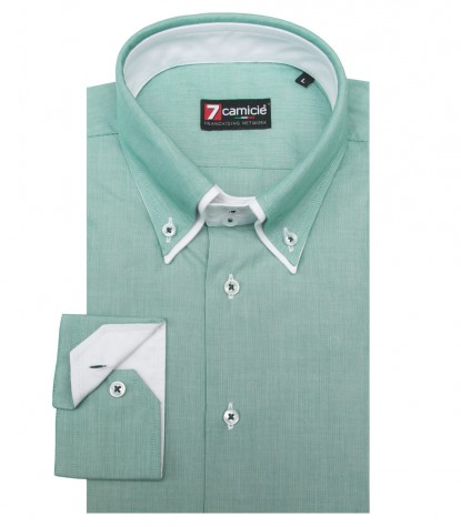 Shirt Marco Polo Cotton Green