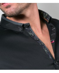 Shirt Leonardo Satin Black