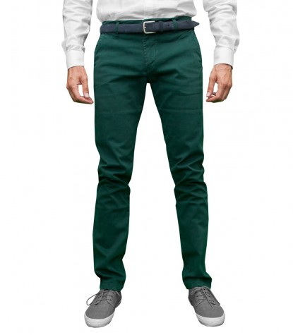 Pantalones Twill Verde Oscuro