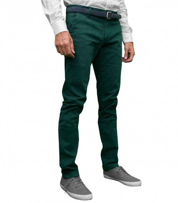 Trousers Twill Dark Green