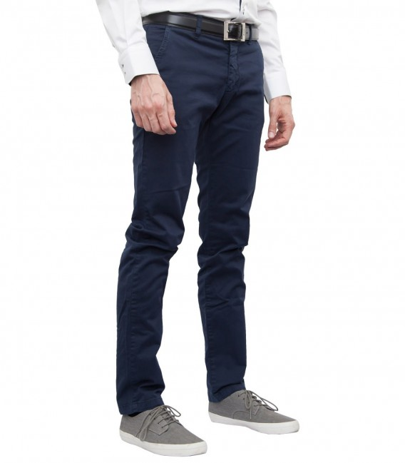 trousers Ischia cotton gabardine Blu