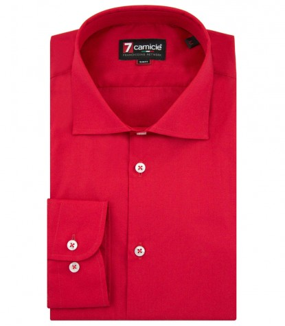 Shirt Firenze poplin Red