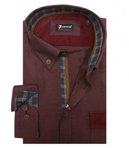 Camisas Leonardo Oxford Bordeaux