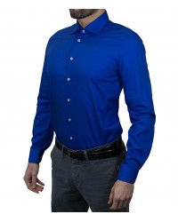 Shirt Firenze poplin Bluette