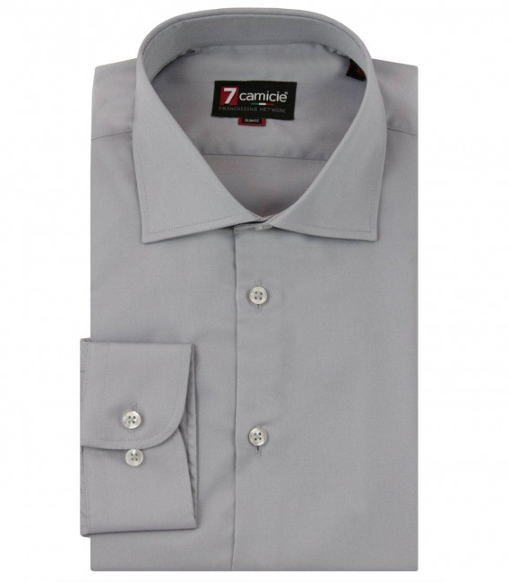 Shirt Firenze Satin Light Grey