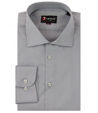 Chemises Firenze Satin gris
