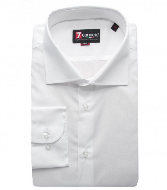 Non-Iron Shirt Firenze poplin White